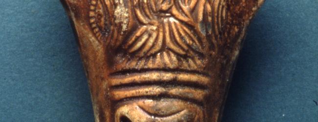Lucerna antica bucefala (a forma di testa di toro)